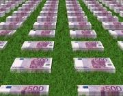 Bitllets de 500 euros en l'herba