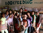 Una de les biblioteques de Bookfeeding Project. Font: Bookfeeding Project