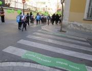 Inauguració d'un camí escolar. Foto: Ajuntament de Barcelona