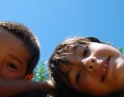 Nens de l'AEiG Anselm Albareda de Barcelona en uns campaments. Foto: MEG