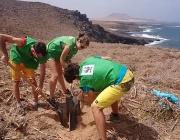 Voluntaris i voluntàries a l'illa de La Graciosa amb WWF (imatge: wwf )