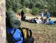 Un moment d'una sortida d'un agrupament escolta a la natura. Foto: MEG.