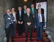 El Conseller de Cultura, Ferran Mascarell, amb els promotors de la iniciativa