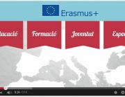Imatge il·lustratiu captura de vídeo Erasmus+ en tres minuts