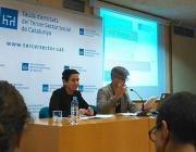 Toni Comín i Àngels Guiteras durant la presentació del Baròmetre del Tercer Sector Social - Font: ABD ONG