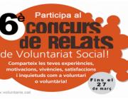 Participa al 6è Concurs de Relats de Voluntariat Social
