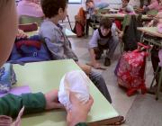 L'escola El Sagrer de Sant Andreu és una de les escoles que hi participen (imatge: video E+S)