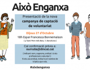 """Dincat dóna el tret de sortida a la campanya de captació de voluntariat """"Això enganxa"""""""