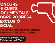 Cartell del Concurs de Curts documentals de Càritas (Font: Càritas)