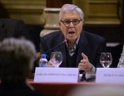 Carlos Jiménez Villarejo, exfiscal anticorrupció, a la presentació del recurs. Font: FCCSM