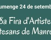 Convocatòria oberta - 38a Fira d'Artistes i Artesans de Manresa