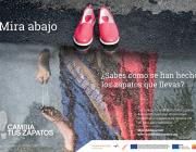 """Cartell de la campanya """"Cambia tus zapatos"""""""