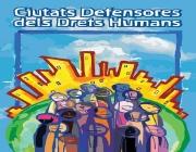 Imatge d'un cartell de Ciutats Defensores dels Drets Humans