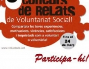 Cartell 5è Concurs de Relats de Voluntariat Social