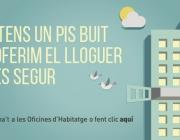 Cartell de propaganda del programa pisos buits. Font: web barcelona.cat