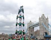 Els Castellers de Vilafranca durant la seva actuació a Londres