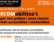 L'entitat realitzarà aquestes xerrades virtuals del 21 de setembre al 5 d'octubre, amb motiu de la setmana europea de la mobilitat. Font: ECOM.