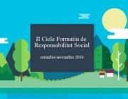 El II Cicle formatiu de Responsabilitat Social està organitzat per RSCat i el Consell de Relacions de Laborals de Catalunya. Font: RSCat