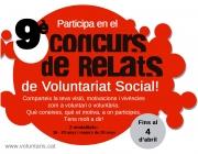 9è Concurs de Relats de Voluntariat Social