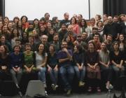 Foto de grup del Col·lectiu de Professionals del Treball Comunitari de Catalunya. Font: Pàgina de Facebook del Col·lectiu
