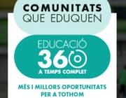 Imatge gràfica del projecte 'Comunitats que eduquen'. Font: Fundació Jaume Bofill