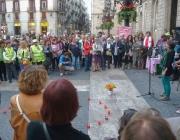 Concentració a Plaça Sant Jaume, convocada per la Plataforma