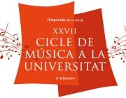 Cartell Cicle de Música a la Universitat 2013 - 2014 (Font: UB)