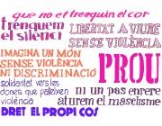Els 9 lemes del Concurs per l'eradicació de la violència masclista 2014