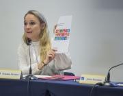 Susana Ferrer, advocada i col·laboradora a Fundesplai, en un dels debats del VI Congrés del Tercer Sector.