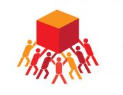 Persones fent un esforç conjunt. Font: Logo de l'any internacional de les cooperatives (2012)