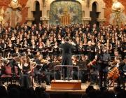 Actuació coral al Palau de la Música