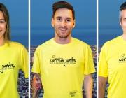 Ana Boadas, Leo Messi i Ramón Pellicer. Font: Correm junts