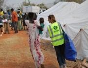 Oxfam al recinte de l'ONU a Juba, Sudan del Sud ©Anita Kattakuzhy/Oxfam