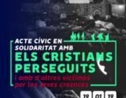 Acte cívic en solidaritat amb les víctimes per les seves creences