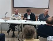 """Alguns dels referents veïnals de Terrassa al cicle de conferències """"El Moviment Veïnal a Terrassa Durant la Transició"""", l'any 2015"""