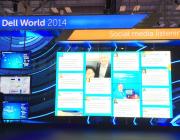 Els murs per a xarxes socials són molt útils en els esdeveniments, i espectaculars! Font: TopRank Marketing