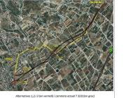 Gepec denúncia el traçat de la nova carretera entre Almoster i La Selva del Camp (imatge: Gepec)