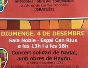 Programa del concert del diumenge 4 de desembre. Font: Pàgina de Facebook de Dermatomiositis Juvenil