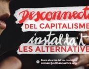 Imatge de l'espot 'Desconnecta't del capitalisme, instal·lat les alternatives'. Font: Som Comerç Just i Banca Ètica