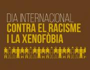 Part del cartell amb les accions per al Dia contra el racisme i la xenofòbia