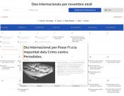 Captura del calendari de DiesInternacionals.cat