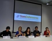 Membres de Som Defensores durant l'acte de presentació el 22 de setembre