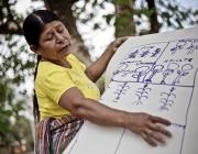 Dona camperola guatemalenca participant en una formació. Autor: Pablo Tosco