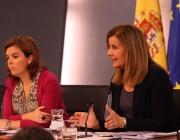 Imatge de Soraya Sáenz de Santamaría  Fátima Báñez. Font: La Moncloa