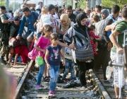 Imatge de refugiats. Font: web elperiodico.cat