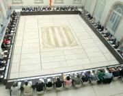 Imatge de la reunió constitutiva del Pacte Nacional pel Dret a Decidir