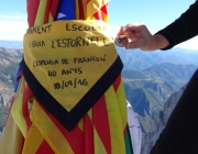 """L'AEiG l'Estornell fent un dels cims del projecte """"4 Dècades 4 Pics"""""""