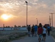 El sol es pon de camí al nou espai d'Eko / Foto: Guillem Cabra