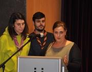 D'esquerra a dreta, la nova vicepresidenta Maria Ferrer, l'ex-president Marc Alcaraz i la presidenta entrant Sheila Beltrán. Font: Fundesplai