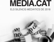 Part del cartell de la presentació de l''Anuari dels Silencis Mediàtics 2018'